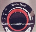 Manual Variable Speed from Low to High
